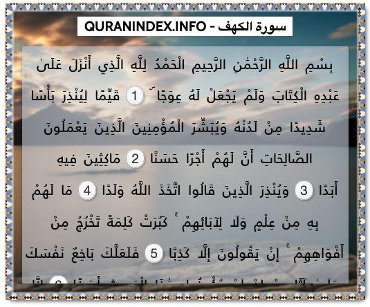 18 Surah Al Kahf سورة الكهف Quran Index Search Quran Verses Surah Al Kahf Quran