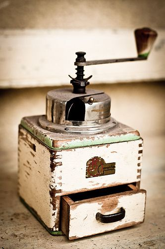 Old coffee mill.