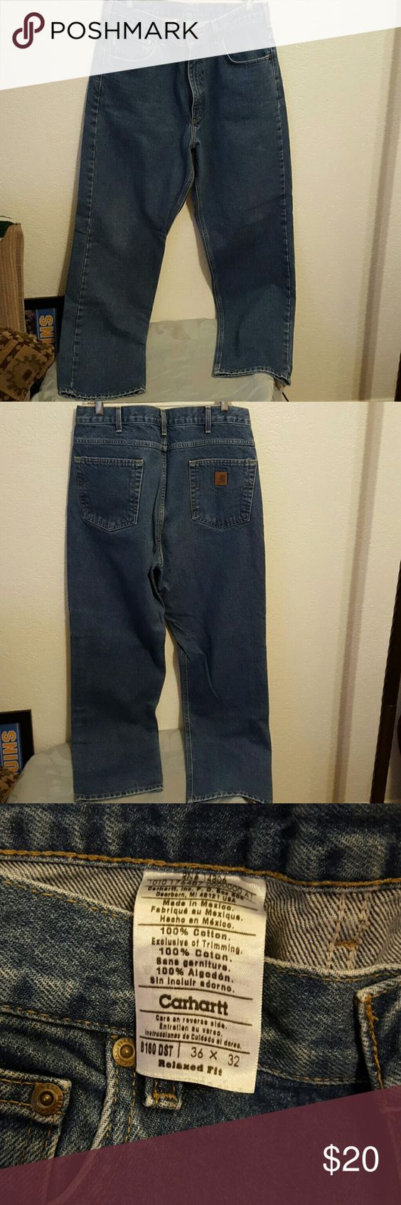 Carhartt Jeans New never worn without tags men's work pants Carhartt Jeans very durable the denim is very thick great for working Outdoors perfect condition Carhartt Jeans Bootcut