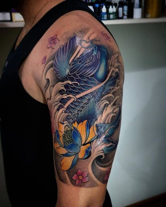 Follow the link to find out more about dragon koi fish tattoo designs! Be mindfu...