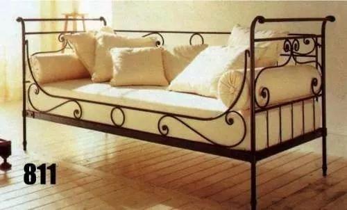 sillon cama hecho en hierro