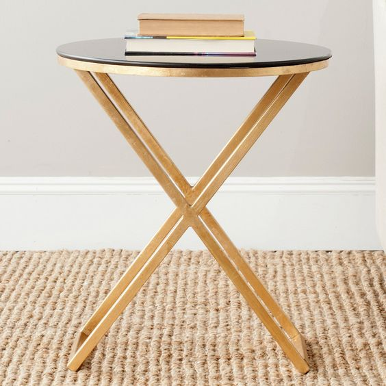 Safavieh Riona Accent Table - Gold - End Tables at Hayneedle