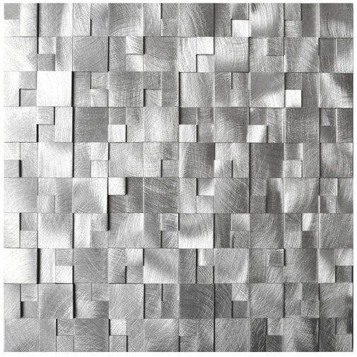 Raised Cobblestone Pattern Metal Mosaic Tile Contemporary Mosaic Tile Metal Mosaic Tiles Mosaic Tiles