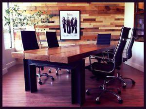 Table paralame en bois recycl plusieurs mod les - Table cuisine en pin ...