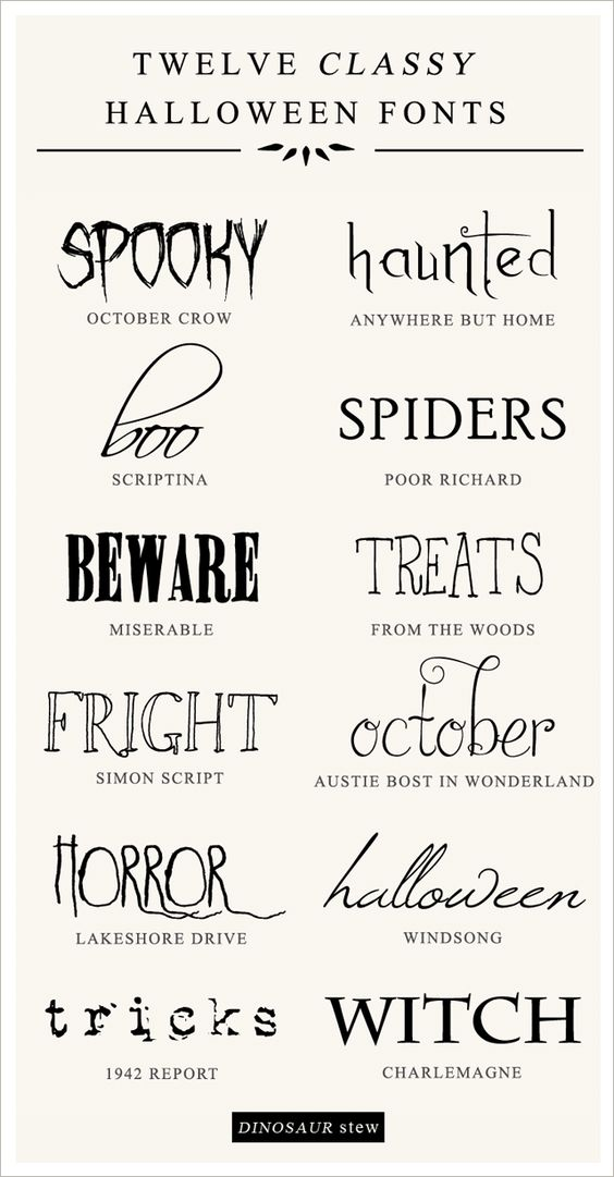 Twelve Classy & Free Halloween Fonts — Dinosaur Stew