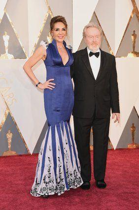 El director Ridley Scott y la productora Giannina Facio