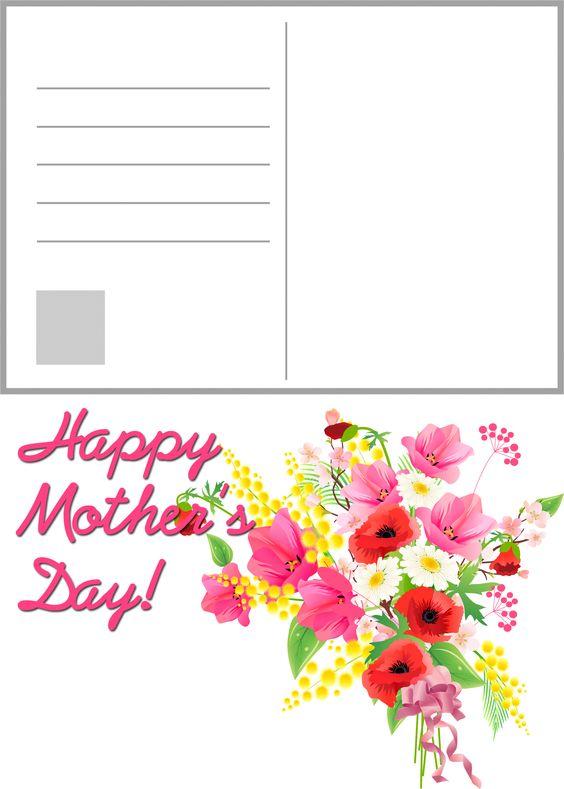 ... free #printable #mother'sday #mothersday #postcard | Pinterest | Free