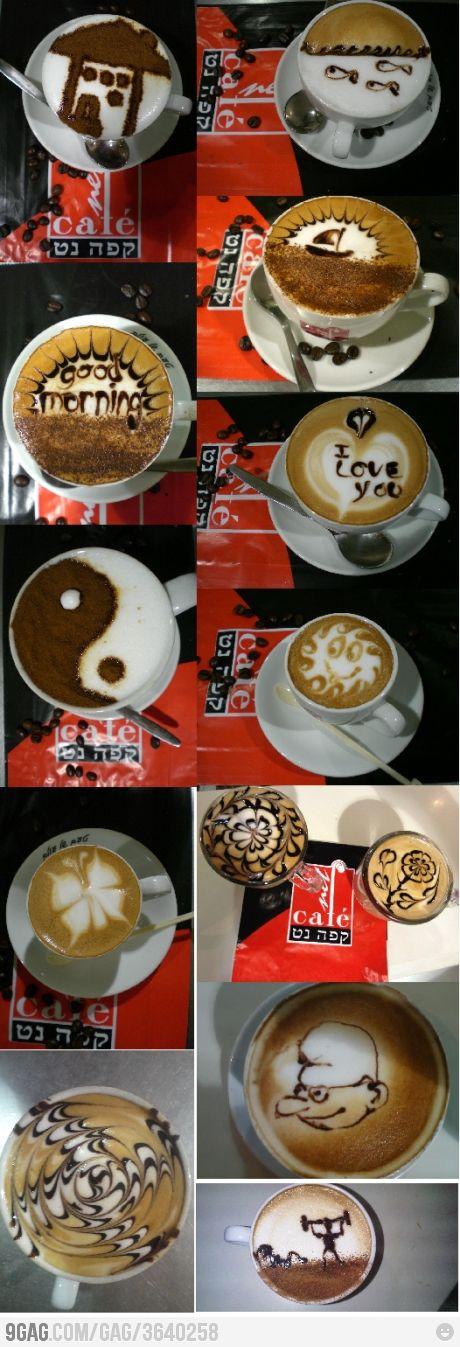 Coffee Art! Para los detallistas con tiempo libre!