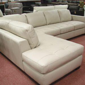 Natuzzi White Leather Sectional Sofa Leather Sofa Leather
