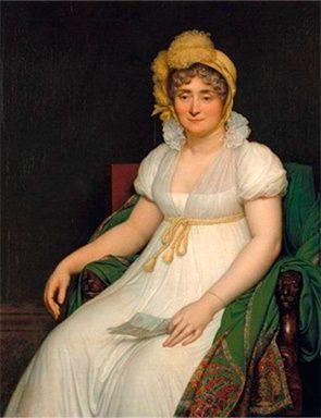 Adélaïde Victorinne Hall, Veuve de Suleau, Marquise de La Grange et de Fourilles / By Louis Girodet de Roucy-Trioson.