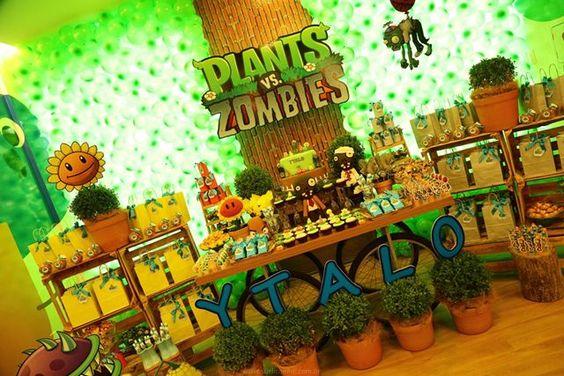 Festa Infantil - Plants vs Zombies - Party Decor - Game Party Decor