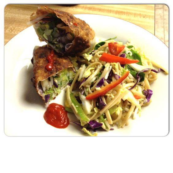 Egg roll summer salad