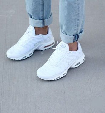 2018 Air Max TN Requin Blanche/Blanche/Blanche | Nike shoes women ...