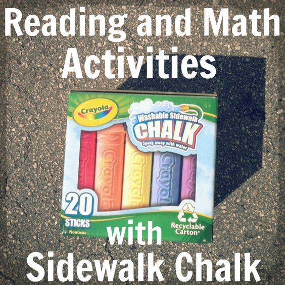 Sidewalk Chalk Games for Reading and Math