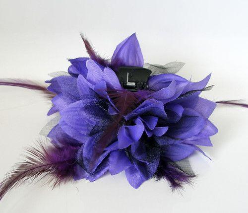 purple/black clip