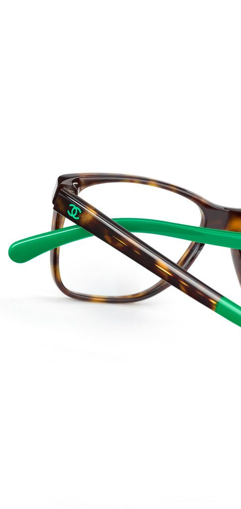 Chanel Green Eyeglass Frames : Rectangular acetate eyeglasses... - CHANEL Beautifuls.com ...