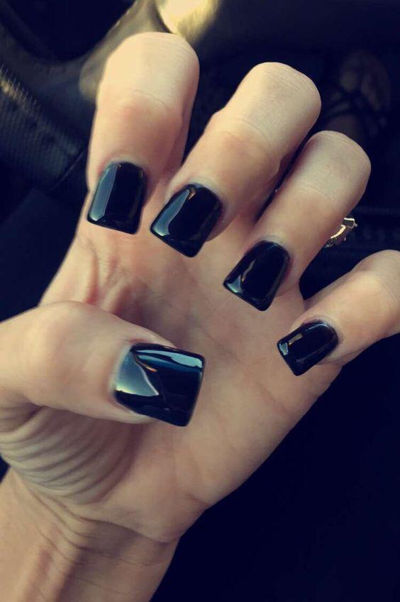 Melissa Marrero's Nails Black Acrylic Nails