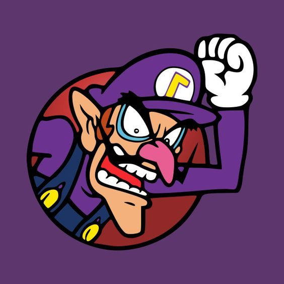 Waluigi Drawing By Snespix Teepublic Mario Super Mario Art Mario Art Cute Cartoon Wallpapers