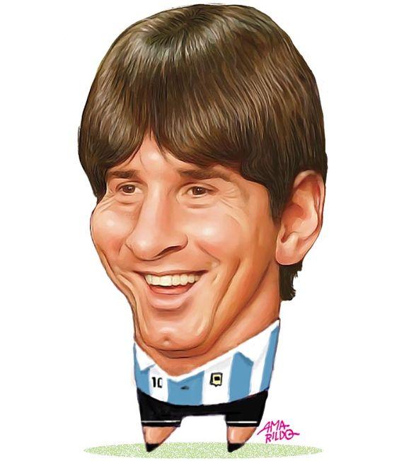 Messi - Argentina - Caricatura