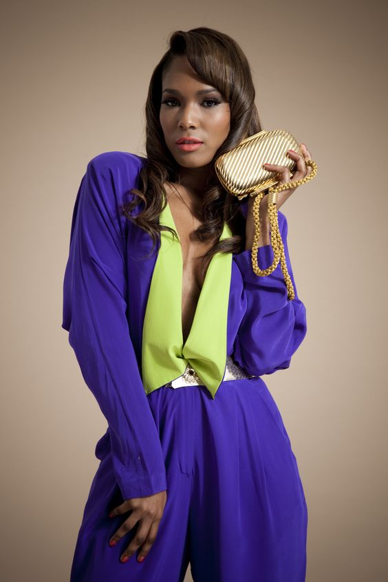 Rare and original silk vintage jumpsuit.  Very Studio 54.  Available at www.theshowroomonline.co.uk