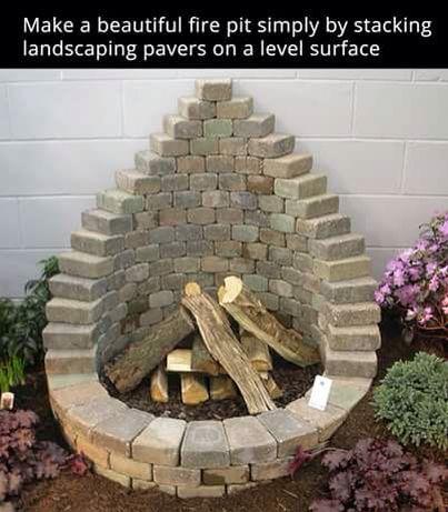 Paving Stone Firepit