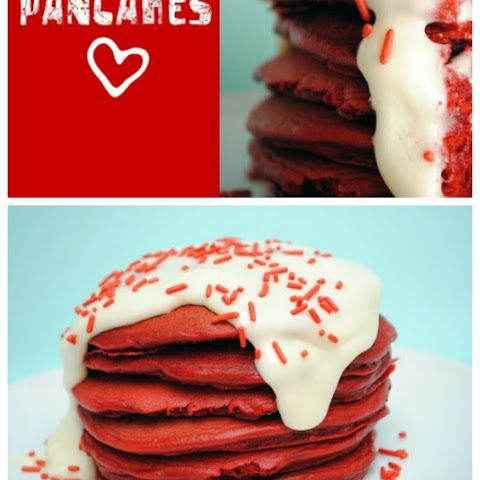 Red Velvet Pancakes & Cream Cheese Frosting