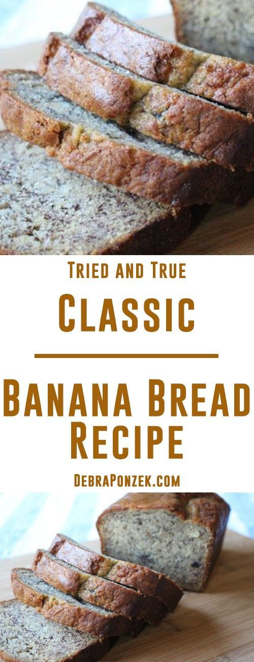 There are always fun twists on banana bread, but there is something special about the traditional. The classic. This moist and flavorful classic banana bread recipe will delight everyone in your family!