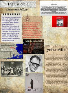 salems witchcraft trials in the crucible by arthur miller Arthur miller discusses his play the crucible and the mccarthy witch-hunts with   about the salem witch trials, the inspiration for arthur miller's the crucible.