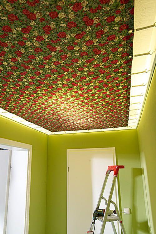 Decke Abhangen Mit Stoff Oder Pvc In 2020 Decke Stoff Tapezi