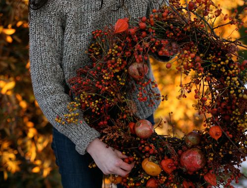How to Make a Bittersweet and Rosehip Wreath by designsponge #DIY #Wreath #Bittersweet #designsponge