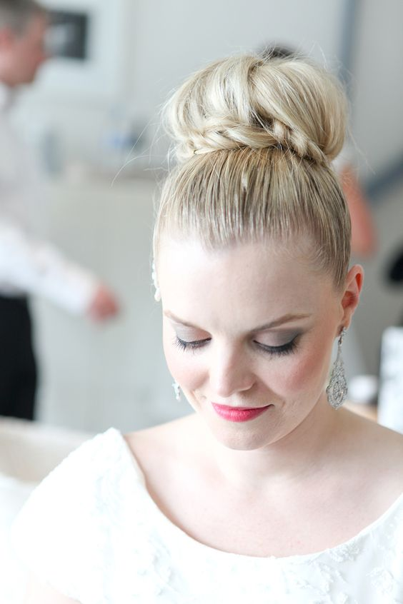 wedding hair with plaits and bun : itakeyou.co.uk: