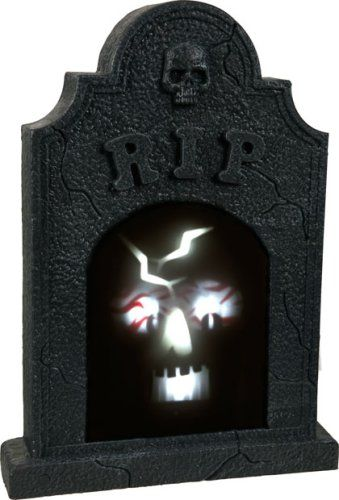 Sound Activated Illuminated Skull Tombstone -- Check out the image by visiting the link.