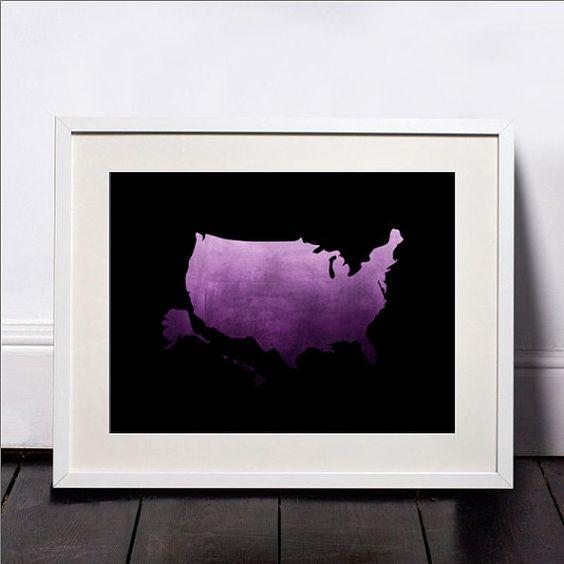 USA map, Art, Print, Watercolor, USA poster, Hawaii Poster, Art, Illustration, United States Artwork, USA map wall art, Home Decor