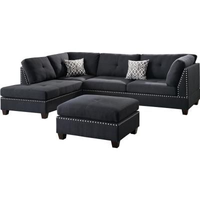 Sofas With Chaise And Ottoman Decordip Com In 2020 Black Sectional Sectional Sofa Sectional Sofa Couch