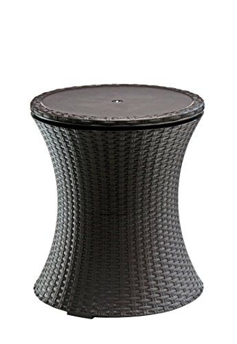 keter rattan outdoor patio deck pool cool bar ice cooler table furniture brown keter http amazoncom patio furniture