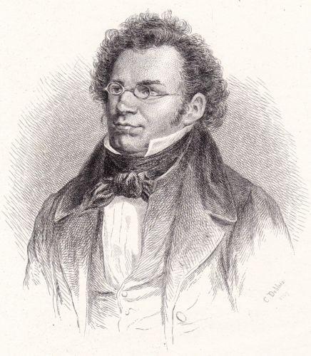 Eau-Forte-1867-Franz-Schubert-Compositeur-Musique-Charles-Theodore-Deblois