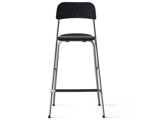 Black-brown folding bar stool