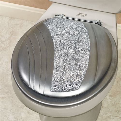 Awesome Brilliance Mosaic Silver Gray Standard Toilet Seat In 2019 Caraccident5 Cool Chair Designs And Ideas Caraccident5Info