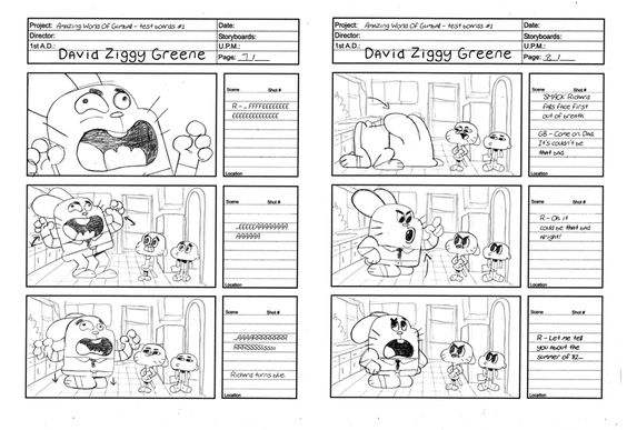 Storyboard examples - line art - sketches - pencil paper - commercial storyboards