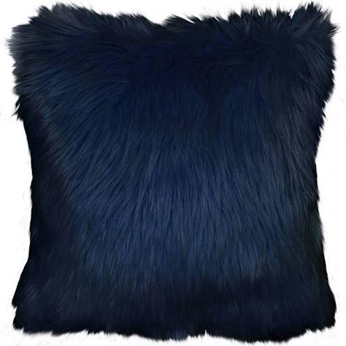 Navy Throw Pillow Fuzzy Decorative Pillows Navy Blue Decor Pillows Decorative Diy