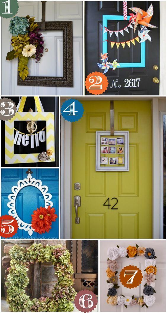 36 creative front door decor ideas not a wreath paint for Door frame color ideas