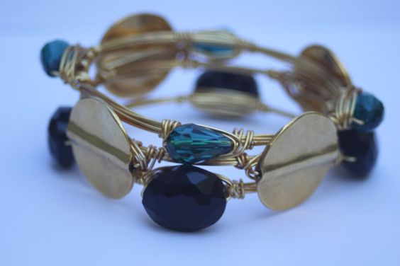 Jaguars Bangle Set by ElliesSparkles on Etsy, $45.00