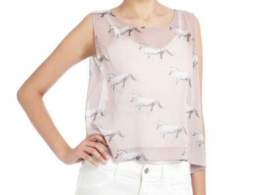 {sheer horse print tank} sweet!#Repin By:Pinterest++ for iPad#