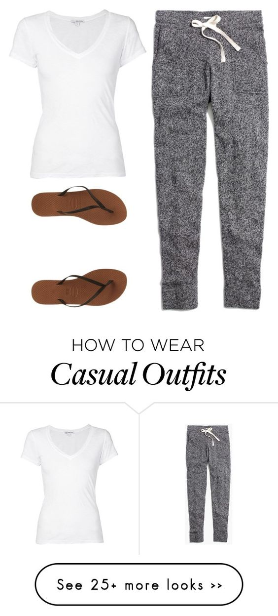 """""""casual"""" by twerkinonmaz on Polyvore featuring Madewell, James Perse and Havaianas"""