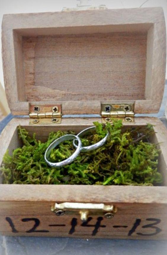 Ring in a treasure box
