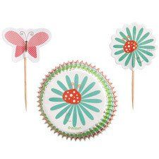 Wonderful cupcake liners and picks for Mother's Day or any Spring themed event.