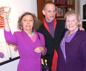 Ultra Violet, John Waters, Brigid Berlin  Social Diary 11/18/05 - Bright cold day and night in Manhattan