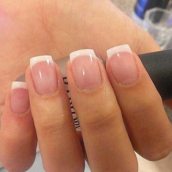 Pin By Tyra Felty On Nails French Tip Acrylic Nails French Tip Nails White Tip Nails