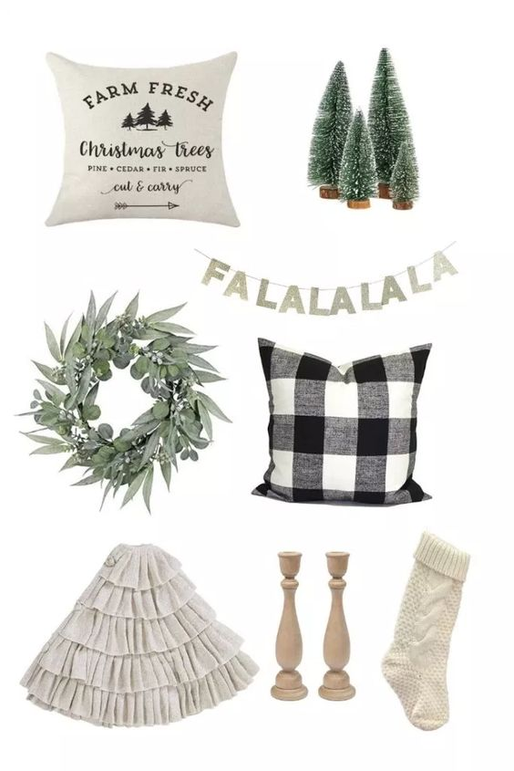 modern farmhouse Christmas decor -
