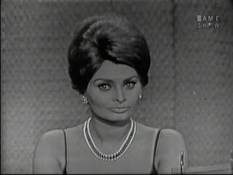 What's My Line? - Sophia Loren; Johnny Carson [panel] (May 28, 1961)